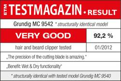 TESTMAGAZIN01/2012Test result: VERY GOOD