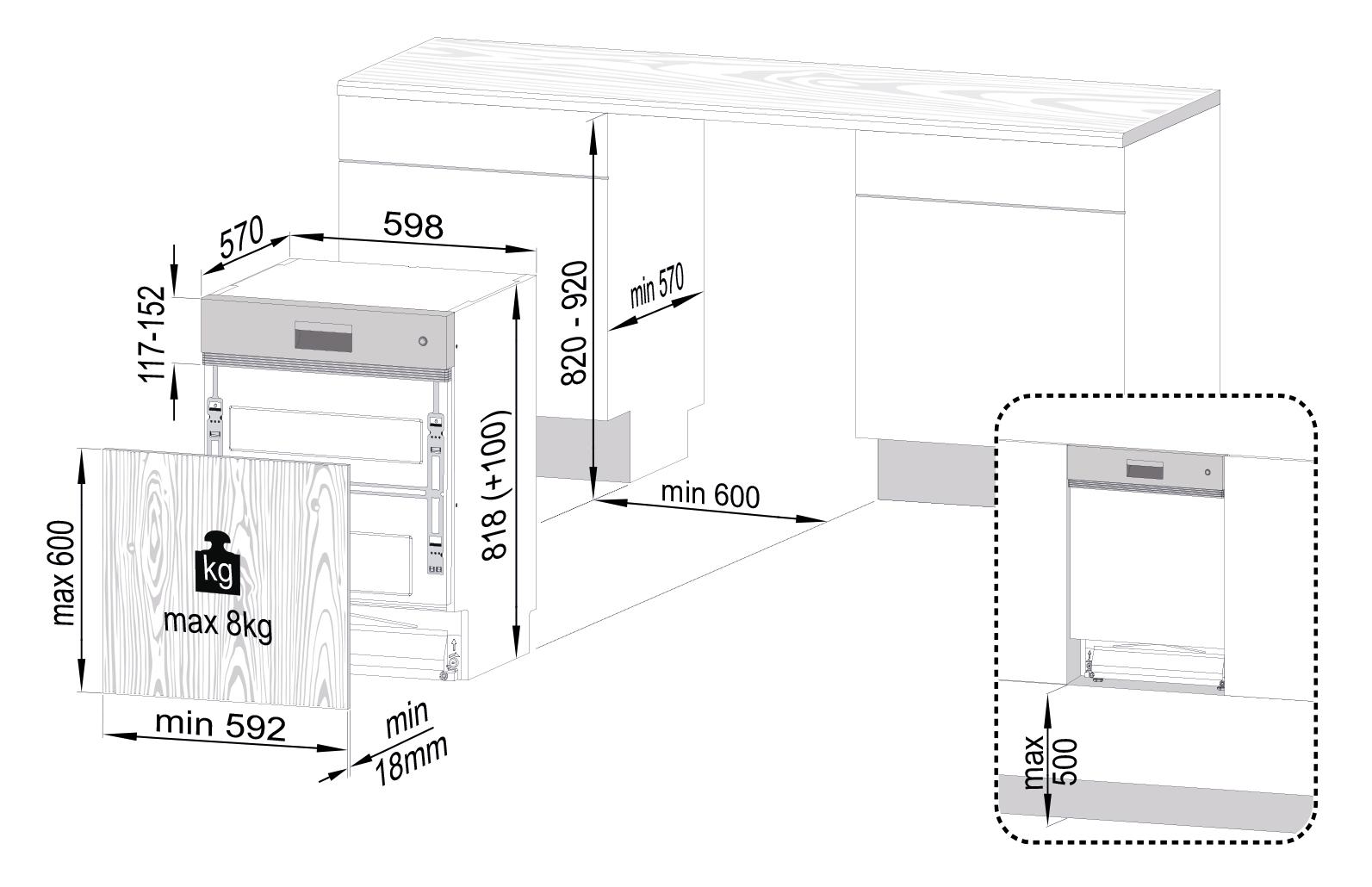 gni 41835 x teilintegrierter geschirrsp ler. Black Bedroom Furniture Sets. Home Design Ideas