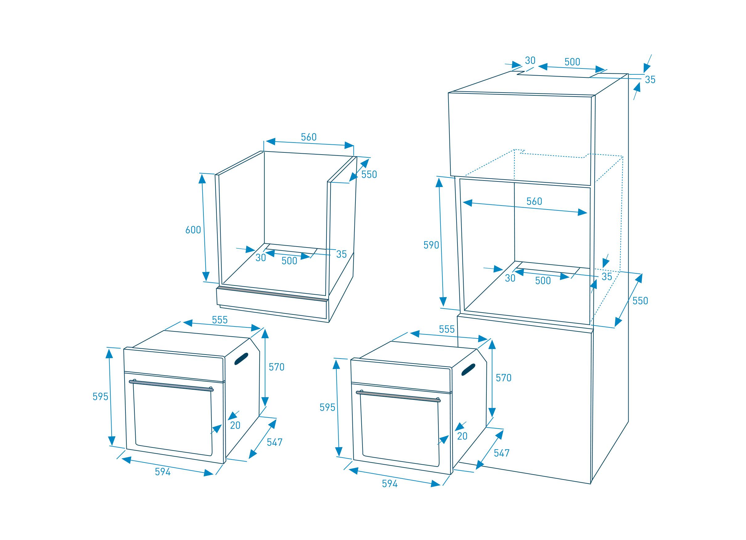 edition 70 backofenset multifunktionsofen. Black Bedroom Furniture Sets. Home Design Ideas