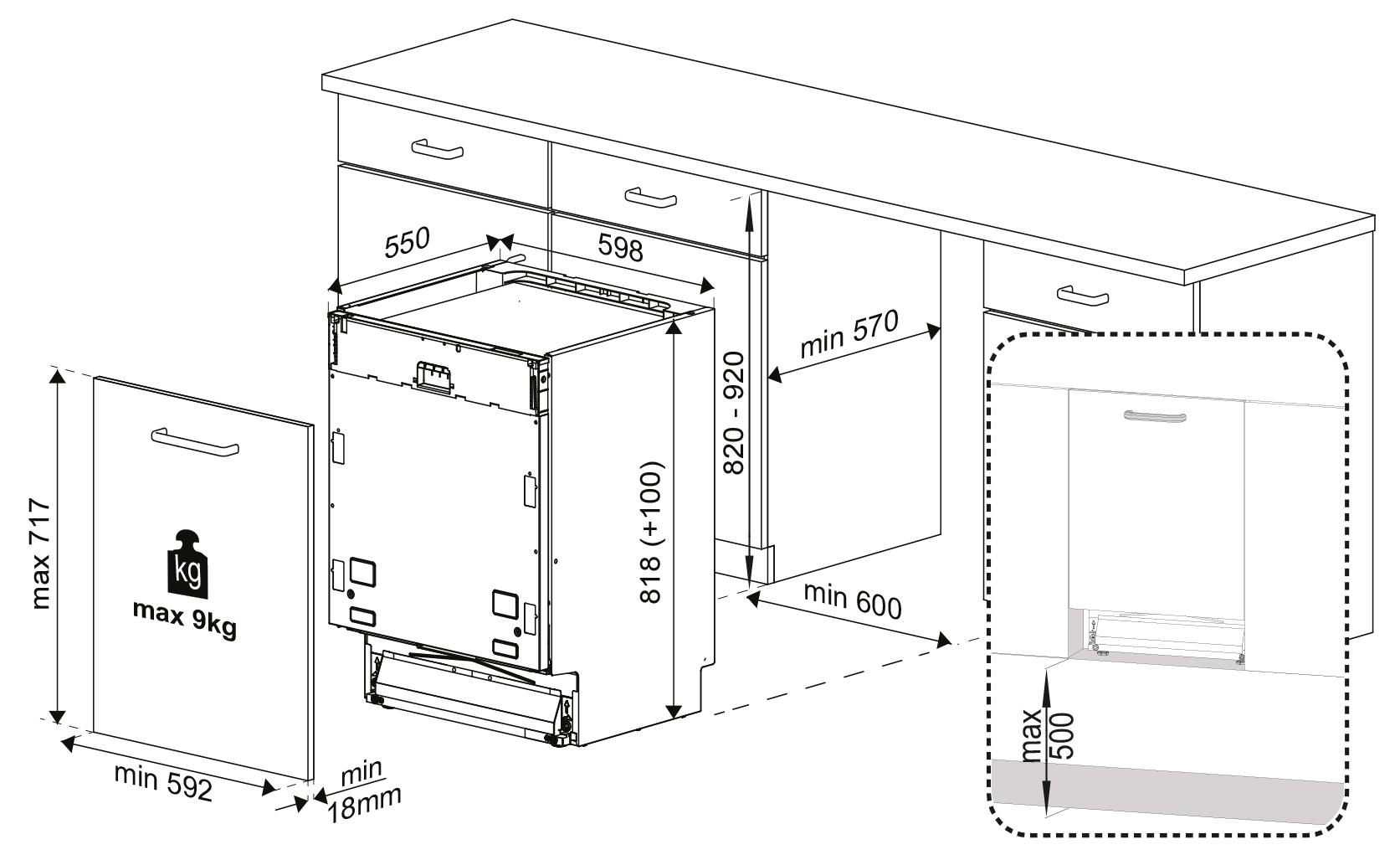 edition 70 vi geschirrsp ler vollintegrierter geschirrsp ler. Black Bedroom Furniture Sets. Home Design Ideas