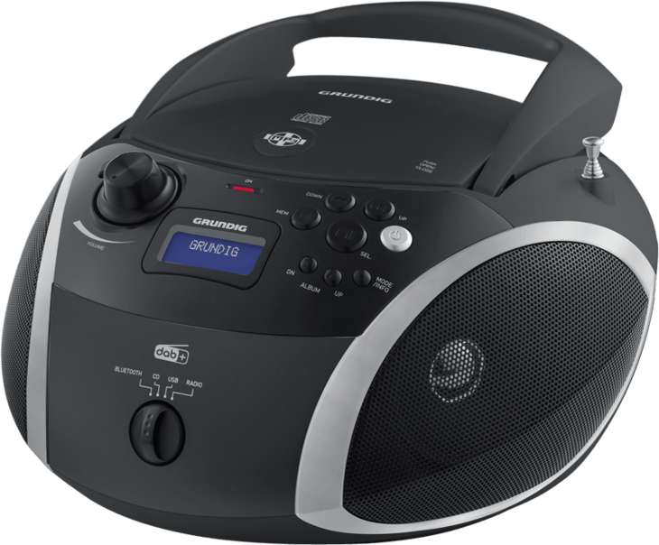 GRB 4000 BT Schwarz/Silber CD-Radios