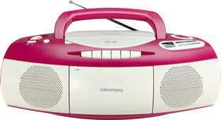 RRCD 1400 Pink White - CD-Radio-Recorder
