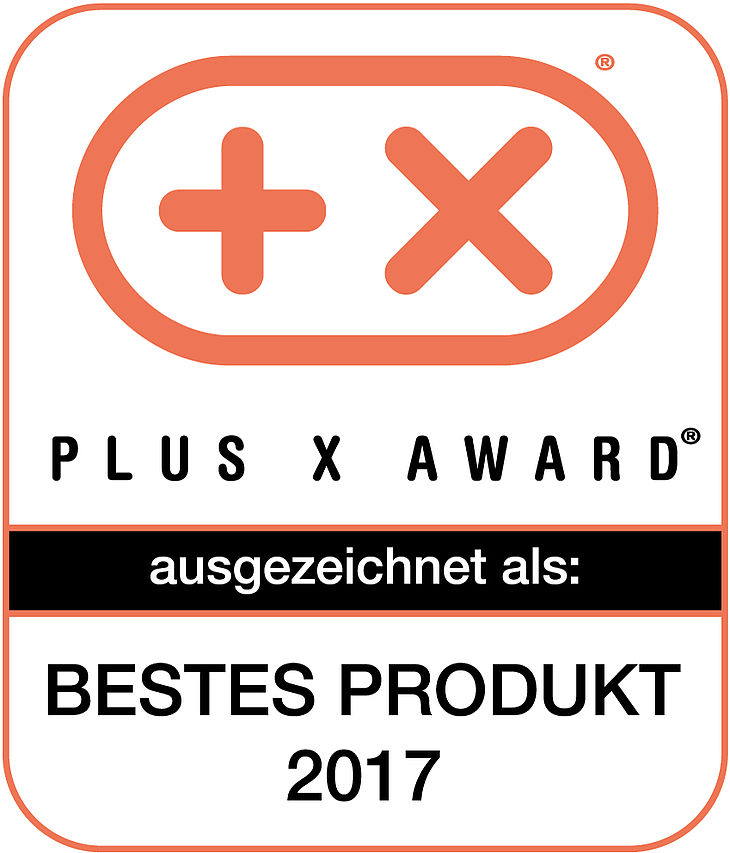 PLUS X AWARD Bestes Produkt 2017