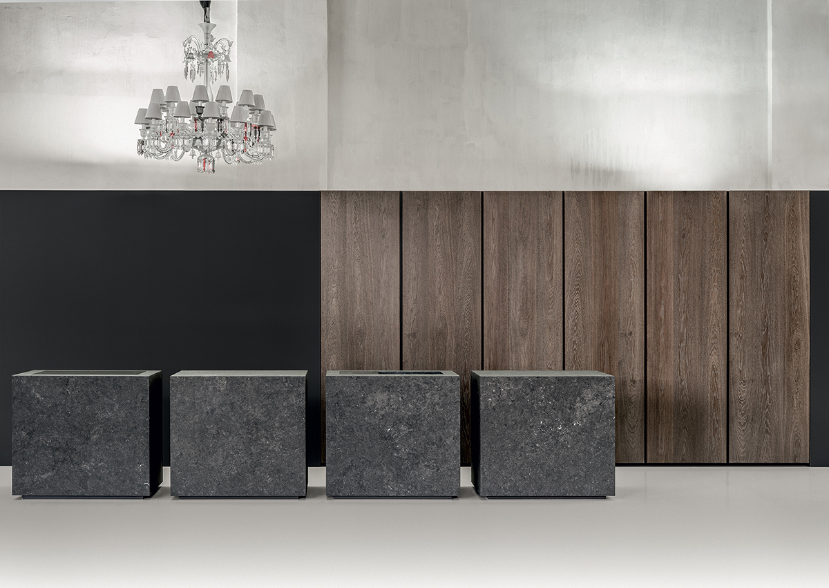 A kitchen archipelago from the ROCK collection, designed by Martin Steininger and Alberto Minotti. ©steininger.designers gmbh