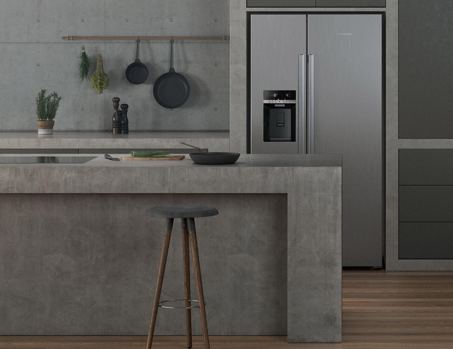 Grundig Kühlschrank Side By Side : Grundig u fullfresh kühlschrank